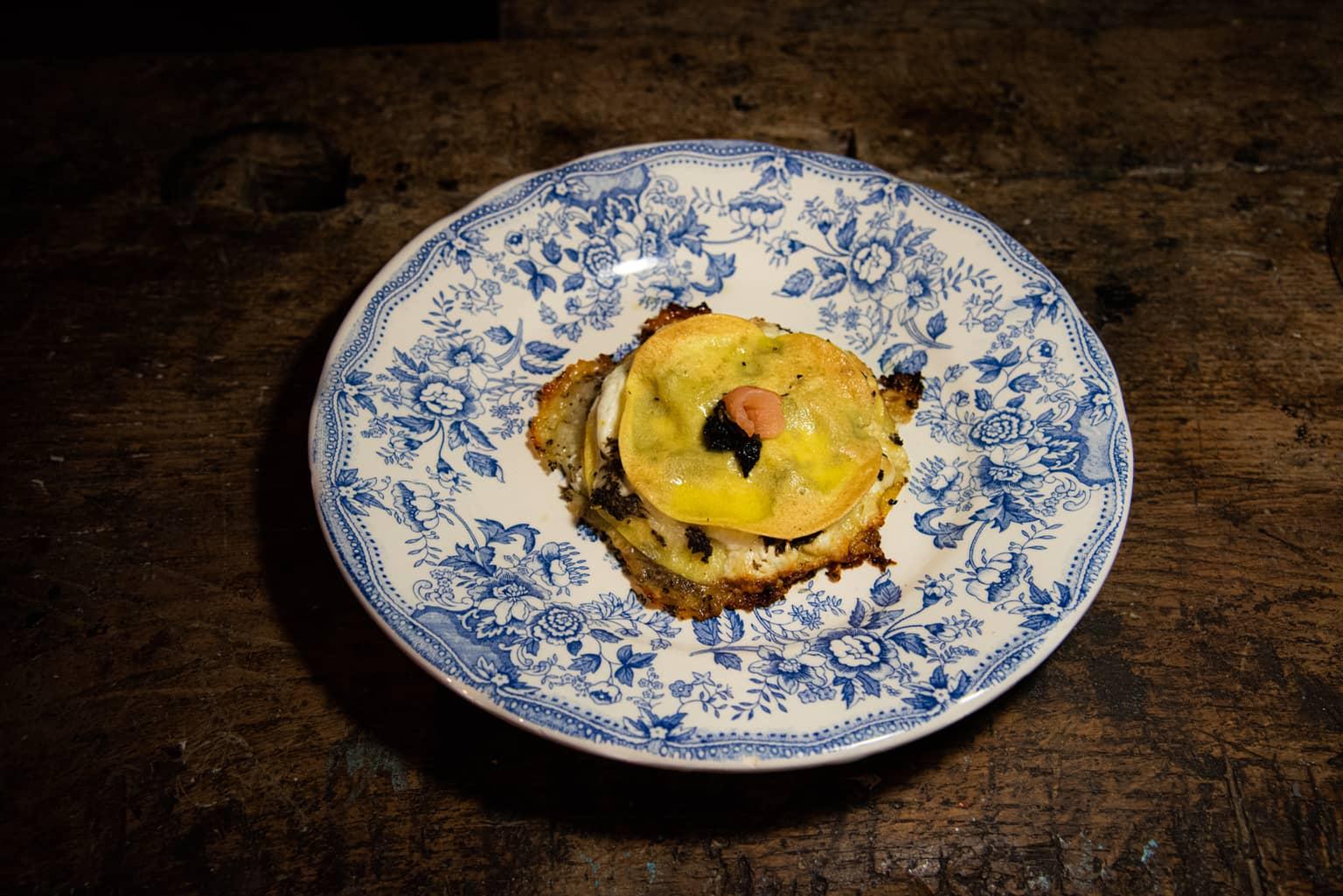 Lasagnette con salmone, burrata e tartufo
