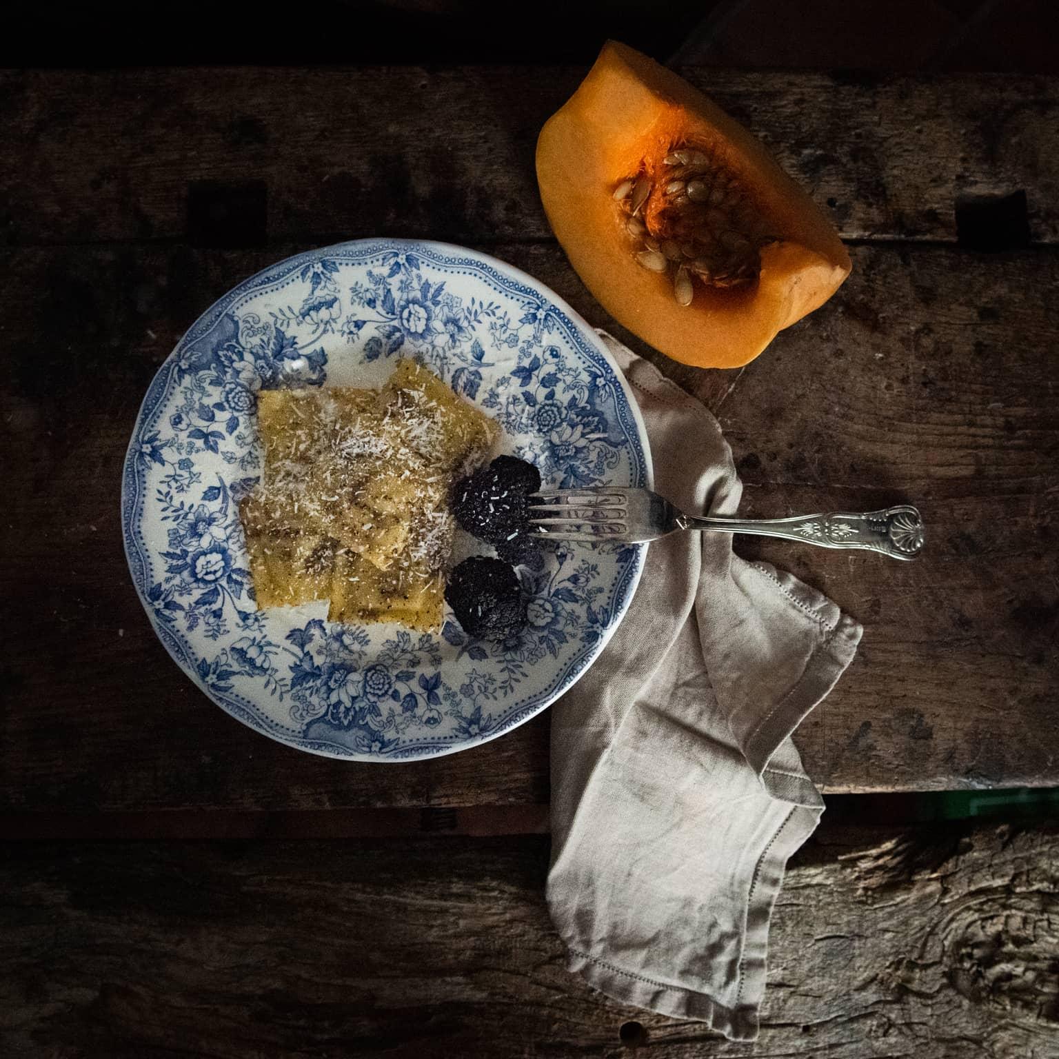 ravioli di zucca e tartufo